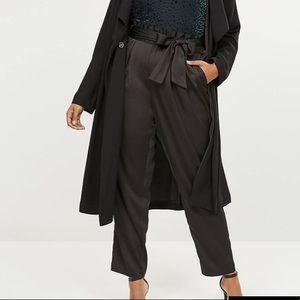 Lane Bryant pull in belted Sayin ankle pant NWT